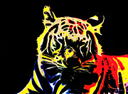 Gallerie Ak Art - St 14 Neon Tiger by Surita Tondon