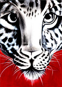 Gallerie Ak Art - St 21 Tiger In Red by Surita Tondon