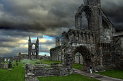 Roman Ruins Posters - St Andrews Cathedral and gravestones Poster by RicardMN Photography