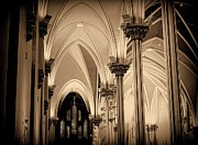 Hand Made Art - St. Andrews Cathedral Sepia Tone 1800s Architecture by Rosemarie E Seppala