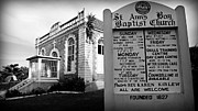Abolition Prints - St. Anns Bay Baptist Church with Sign Print by Stephen Stookey