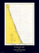 Nautical Chart Photos - St. Augustine by Adelaide Images