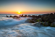 St. Augustine Prints - St. Augustine Fl Beach Sunrise - The Morning After Print by Dave Allen