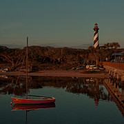 Shotwell Photography Prints - St. Augustine Lighthouse Beach Early Morning color Print by Kathi Shotwell