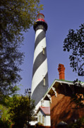 Rustic Scenes Prints - St Augustine Lighthouse - Old Florida Charm Print by Christine Till