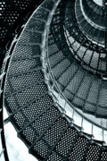 Circles Metal Prints - St Augustine Lighthouse Staircase Metal Print by Christine Till
