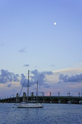 Sea Moon Full Moon Photo Posters - St. Augustine Sunset Poster by Laurie Perry