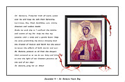 St. Barbara Protector From All Harm - Prayer - Petition Print by Barbara Griffin