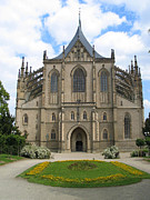 St Barbara Prints - St Barbaras Cathedral Kutna Hora Czech Republic Print by Jason O Watson