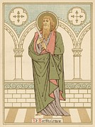 Saint Drawings Metal Prints - St Bartholomew Metal Print by English School