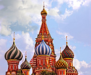 St Photos - St. Basils Cathedral - Moscow - Russia by Madeline Ellis