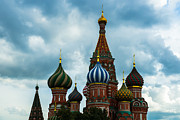 Russian Cross Photos - St. Basils Cathedral On The Red Square of Moscow City - Featured 3 by Alexander Senin