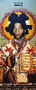 Mosaic Mixed Media Originals - St. Basquiat by Voodo Fe Culture