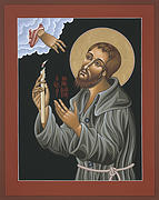 Benedict Painting Framed Prints - St. Benedict Joseph Labre Framed Print by William Hart McNichols