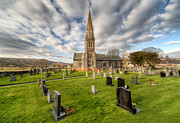 Graveyard Digital Art Prints - St Beuno Church Print by Adrian Evans