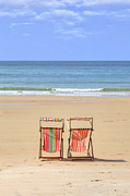 Beach Chair Photo Framed Prints - St Brelades Bay - Jersey Framed Print by Joana Kruse