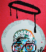 Crazy Mixed Media Posters - St. Brooklyn Poster by Voodo Fe Culture