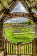 Wall Table Prints - St Celynnin Graveyard Print by Adrian Evans