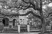 St Charles Photos - St. Charles Ave. Mansion 2 bw by Steve Harrington