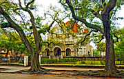 Mansion Digital Art Prints - St. Charles Ave. Mansion paint Print by Steve Harrington