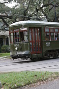 St Charles Avenue Photos - St. Charles Ave Streetcar by KandE Inc