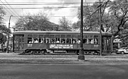 St Charles Photos - St. Charles Ave. Streetcar monochrome by Steve Harrington