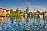 St Charles Bridge Posters - St Charles Bridge Prague Poster by John Magyar Photography