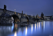St Charles Bridge Posters - St Charles Bridge Poster by Ryan Wyckoff
