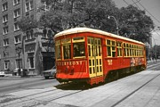 Saint Charles Digital Art - St Charles Streetcar - New Orleans by Peter Art Prints Posters Gallery