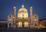 St Charles Photos - St. Charless Church - Vienna by Marc Huebner