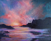 Chatham Painting Prints - St. Croix Sunset Print by Karen Kennedy Chatham