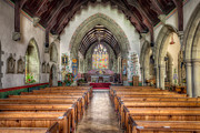 Aisle Framed Prints - St Davids Church Framed Print by Adrian Evans