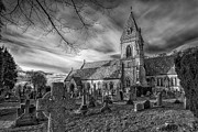 Cemetery Digital Art Prints - St Davids Pantasaph Print by Adrian Evans