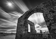 Monochrome Prints - St Dwynwens Church Print by David Bowman