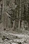 Ghost Town Outhouse Framed Prints - St. Elmo Number Three Framed Print by Peter Lotto