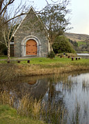 Gougane Barra Church Photo Metal Prints - St. Finbarrs Oratory Metal Print by Thomas Glover
