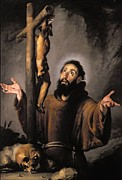 Monks Paintings - St. Francis by Bernardo Strozzi
