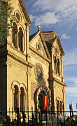 Church Digital Art Prints - St. Francis Cathedral - Santa Fe Print by Mike McGlothlen