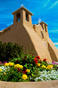 Catholic Art Photo Originals - St Francis dasis Mission Church. Taos New Mexico by Jeff Black