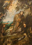 Francis Painting Posters - St. Francis Of Assisi Receiving The Stigmata Poster by Peter Paul Rubens
