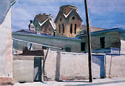 St. Francis Paintings - St Franciss Towers Santa Fe by Edward Hopper