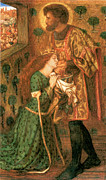 Rossetti Metal Prints - St George and the Princess Sabra Metal Print by Dante Gabriel Rossetti