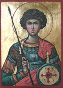 Byzantine Mixed Media - St. George by Filip Mihail