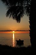 St. George Island Sunset Print by Lynn Jordan