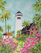 Oleanders Framed Prints - St. George Islands Lighthouse Framed Print by Carla Parris