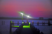 Md Digital Art - St. Georges Island Dock - Just Before Sunrise by Bill Cannon