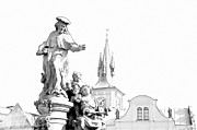 Jenny Rainbow - St. Ivo Statue on the Charles Bridge. Prague