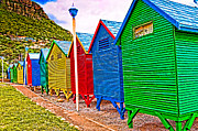 St James Beach Houses From Behind Print by Cliff C Morris Jr