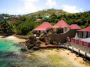 Red Roofs Photos - St. Jeans Beach by Karen Wiles