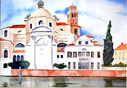 Dome Paintings - St Jeramiah Church Venice Italy by Gail Sellers